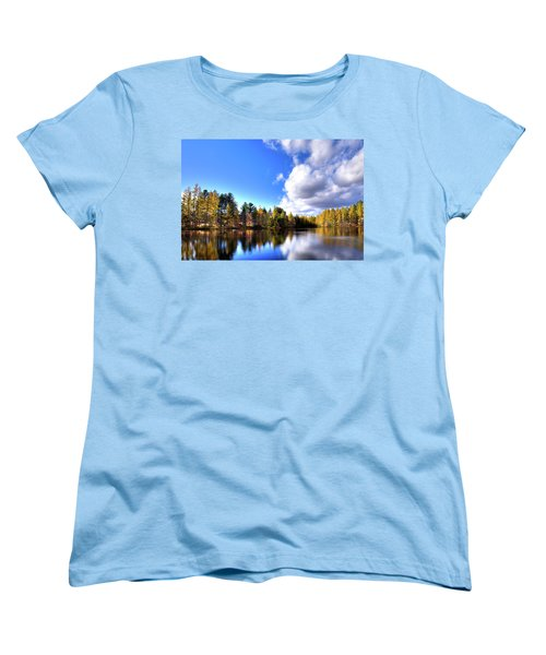 Women's T-Shirt (Standard Cut) featuring the photograph Autumn Calm At Woodcraft Camp by David Patterson