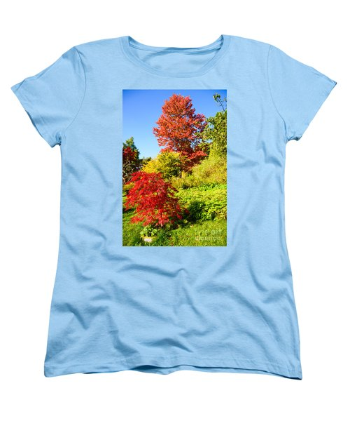Women's T-Shirt (Standard Cut) featuring the photograph Autumn Colours by Colin Rayner