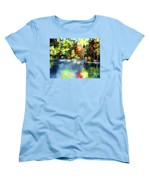 Autumn In Loon Country Women's T-Shirt (Standard Cut) by Al Brown