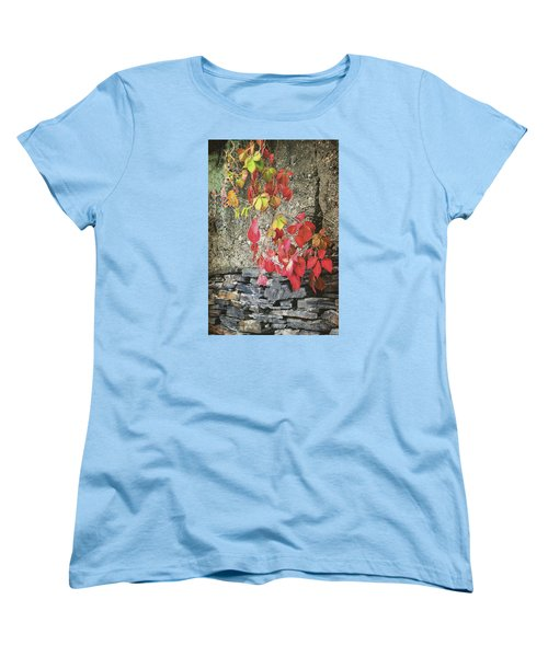 Women's T-Shirt (Standard Cut) featuring the photograph Autumn Leaves by Tom Singleton