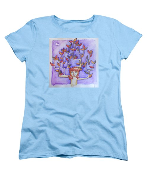 Autumn Moon Women's T-Shirt (Standard Cut) by Whitney Morton