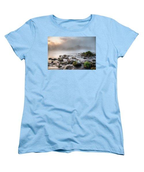 Autumn Morning Women's T-Shirt (Standard Cut) by Davorin Mance