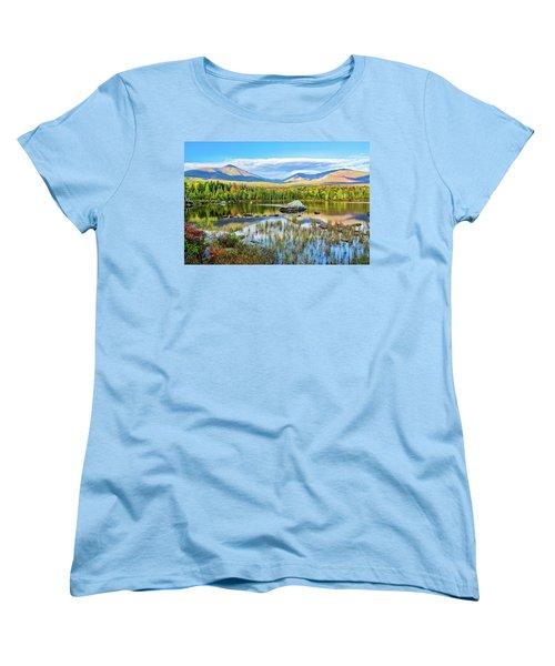 Autumn Mt.katahdin Baxter Sp Maine Women's T-Shirt (Standard Cut) by Michael Hubley