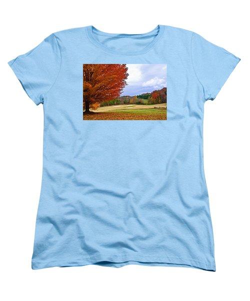 Autumn On The Golf Course Women's T-Shirt (Standard Cut) by Susan Leggett