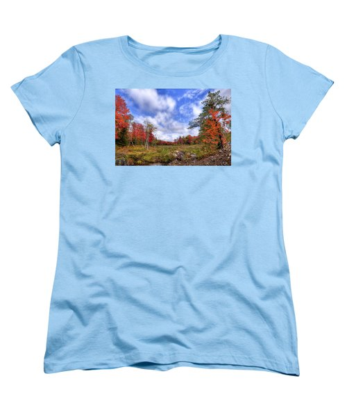 Women's T-Shirt (Standard Cut) featuring the photograph Autumn On The Stream by David Patterson
