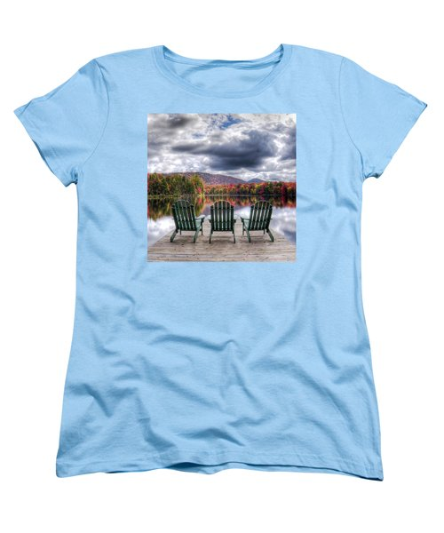 Women's T-Shirt (Standard Cut) featuring the photograph Autumn On West Lake by David Patterson