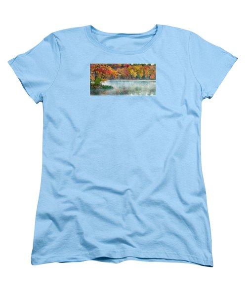 Autumn Pond Women's T-Shirt (Standard Cut) by Brian Caldwell