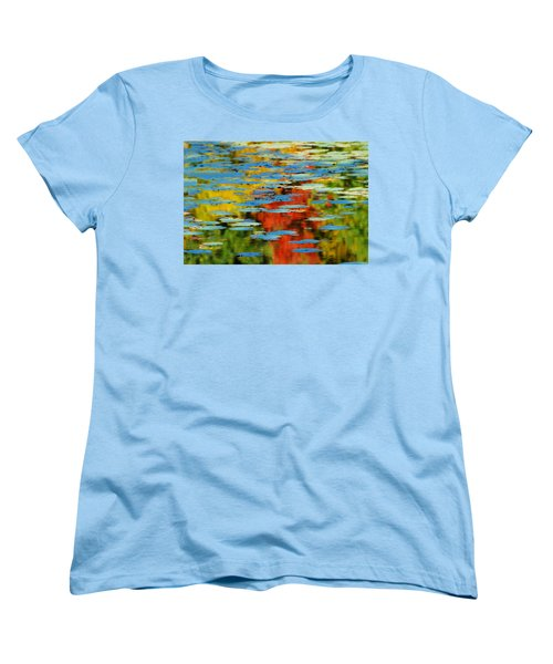 Women's T-Shirt (Standard Cut) featuring the photograph Autumn Lily Pads by Diana Angstadt