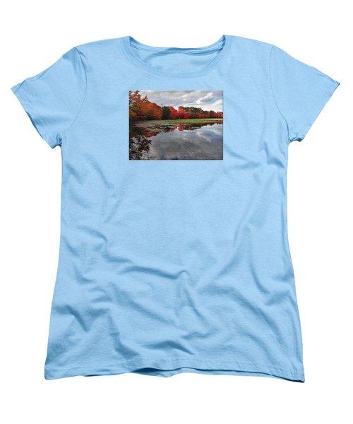 Autumn Reflections Women's T-Shirt (Standard Cut) by Mikki Cucuzzo