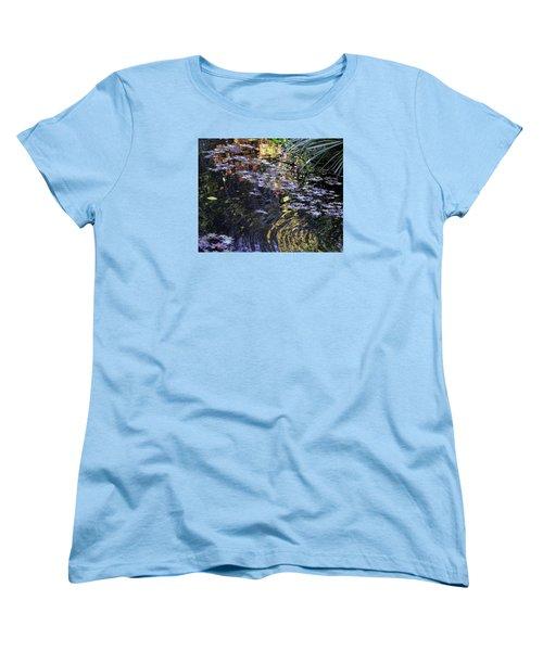 Women's T-Shirt (Standard Cut) featuring the photograph Autumn Ripples by Linda Geiger