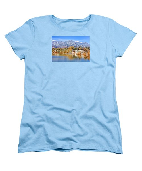 Autumn Snow At The Lake Women's T-Shirt (Standard Cut) by Diane Alexander