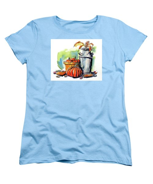 Women's T-Shirt (Standard Cut) featuring the painting Autumn Still Life 2 by Terry Banderas
