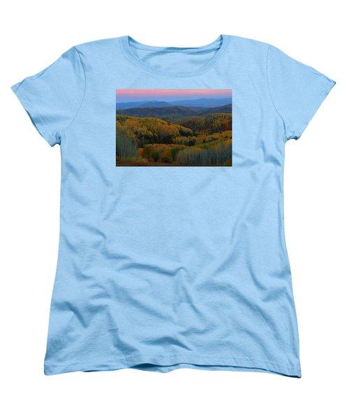 Autumn Sunrise At Rainbow Ridge Colorado Women's T-Shirt (Standard Cut) by Jetson Nguyen