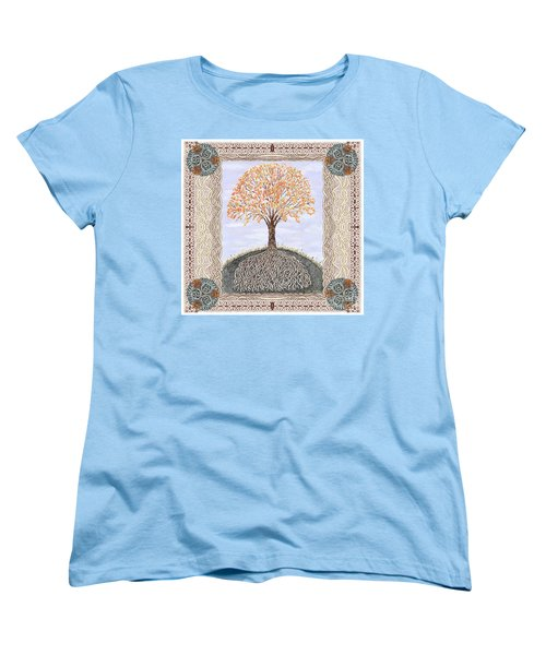 Autumn Tree Of Life Women's T-Shirt (Standard Cut) by Lise Winne