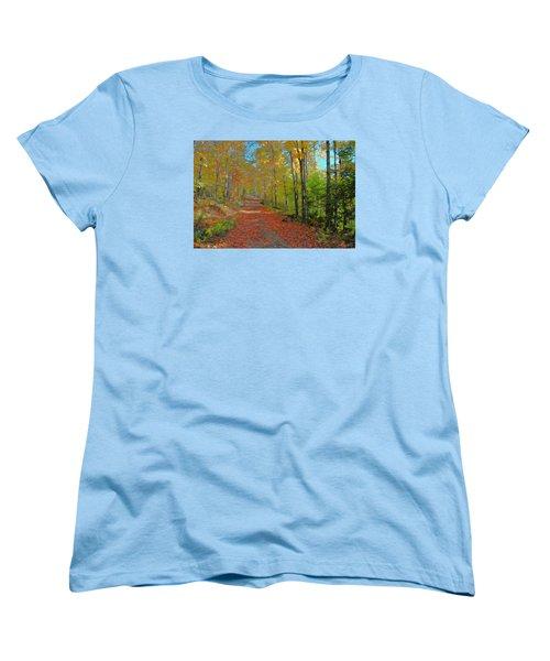 Autumn Walk Women's T-Shirt (Standard Cut) by John Selmer Sr