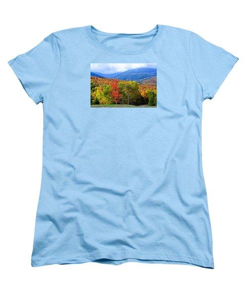 Autumn White Mountains Nh Women's T-Shirt (Standard Cut) by Michael Hubley