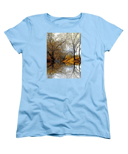 Women's T-Shirt (Standard Cut) featuring the photograph Autumnal by Elfriede Fulda