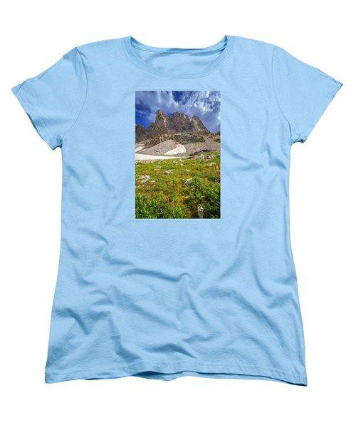 Awe Inspring Grand Teton Landscape Women's T-Shirt (Standard Cut) by Serge Skiba