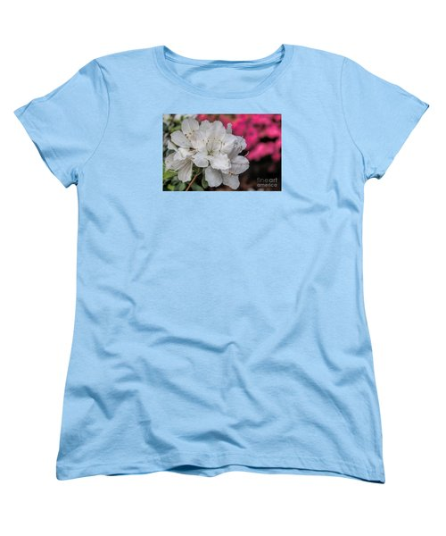 Women's T-Shirt (Standard Cut) featuring the photograph Azaleas In Turtle Creek by Diana Mary Sharpton