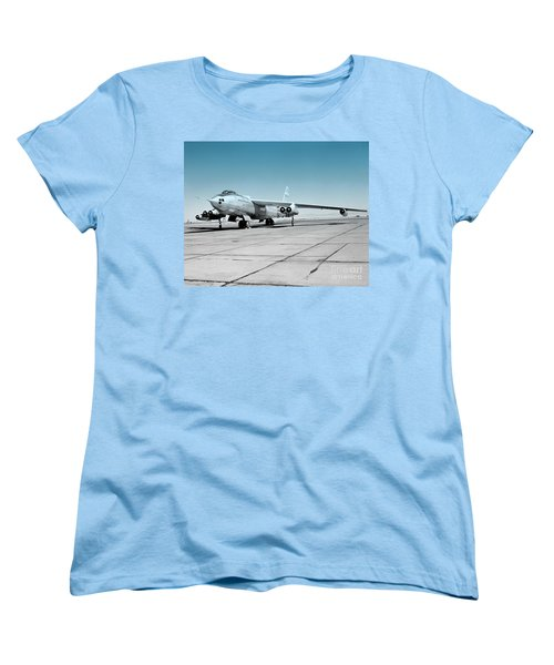 Women's T-Shirt (Standard Cut) featuring the photograph B47a Stratojet - 1 by Greg Moores