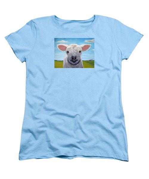 Baby Farm Lamb Sheep  Women's T-Shirt (Standard Cut)