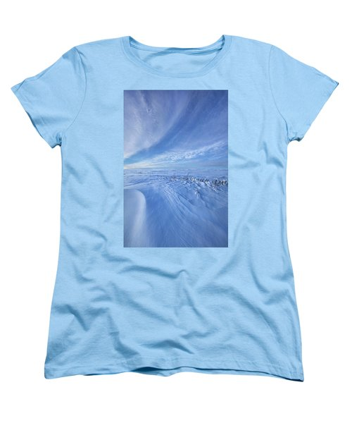 Women's T-Shirt (Standard Cut) featuring the photograph Baby It's Cold Outside by Phil Koch