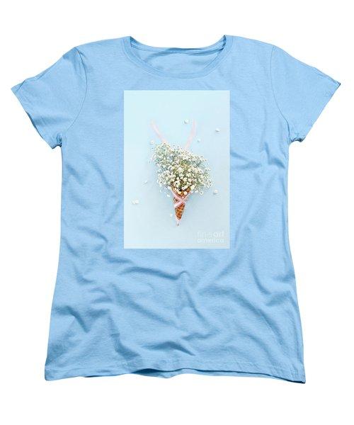 Baby's Breath Ice Cream Cone Women's T-Shirt (Standard Cut)