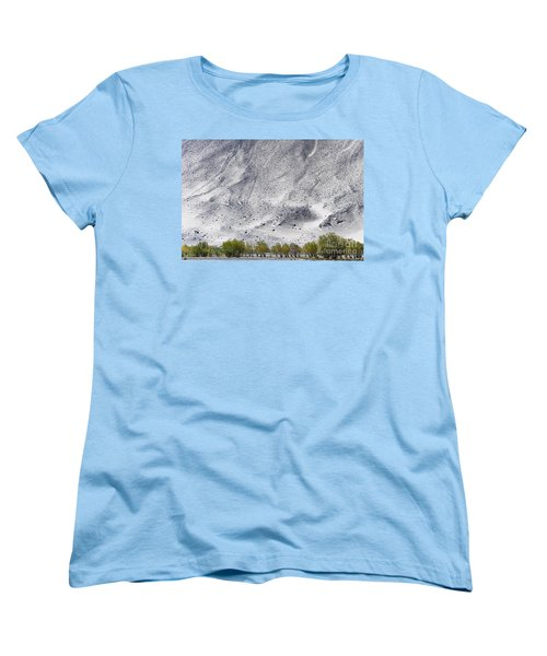 Backdrop Of Sand, Chumathang, 2006 Women's T-Shirt (Standard Cut) by Hitendra SINKAR