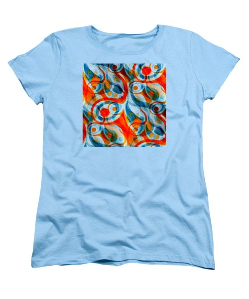 Background Choice Coffee Time Abstract Women's T-Shirt (Standard Cut) by Barbara Moignard