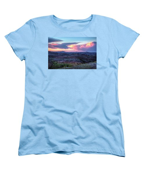 Badlands Sunrise Women's T-Shirt (Standard Cut) by Fiskr Larsen