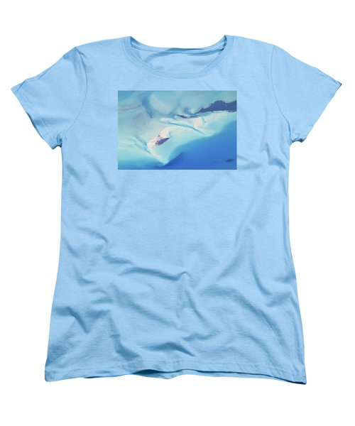 Women's T-Shirt (Standard Cut) featuring the photograph Bahama Banks Aerial Seascape by Roupen  Baker