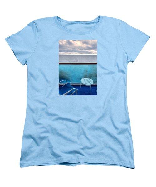 Women's T-Shirt (Standard Cut) featuring the photograph Balcony View by Lewis Mann