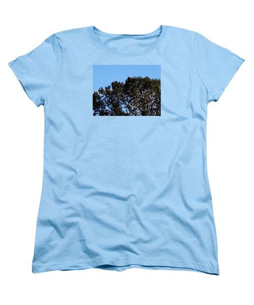 Women's T-Shirt (Standard Cut) featuring the photograph Bald Eagle In Juniper by Deborah Moen