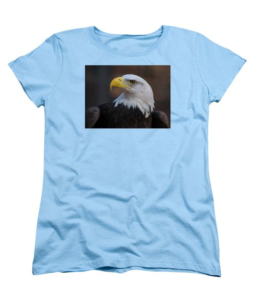 Bald Eagle Painting Women's T-Shirt (Standard Cut) by Chris Flees