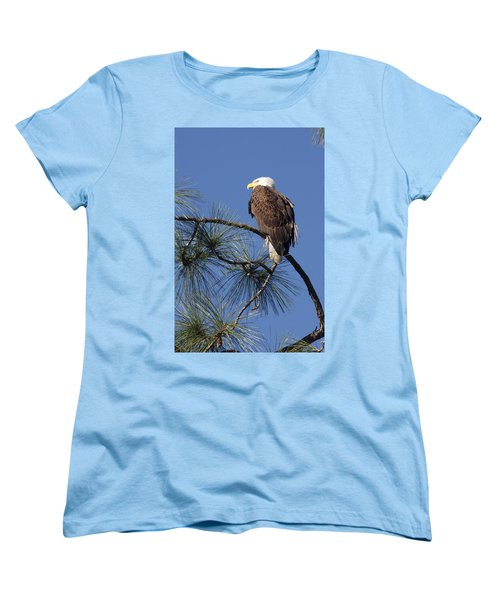 Women's T-Shirt (Standard Cut) featuring the photograph Bald Eagle by Sally Weigand