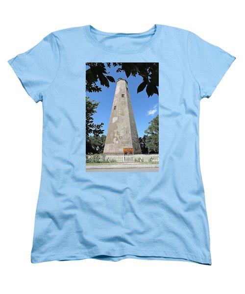 Women's T-Shirt (Standard Cut) featuring the photograph Bald Head Island Lighthouse by Shelia Kempf