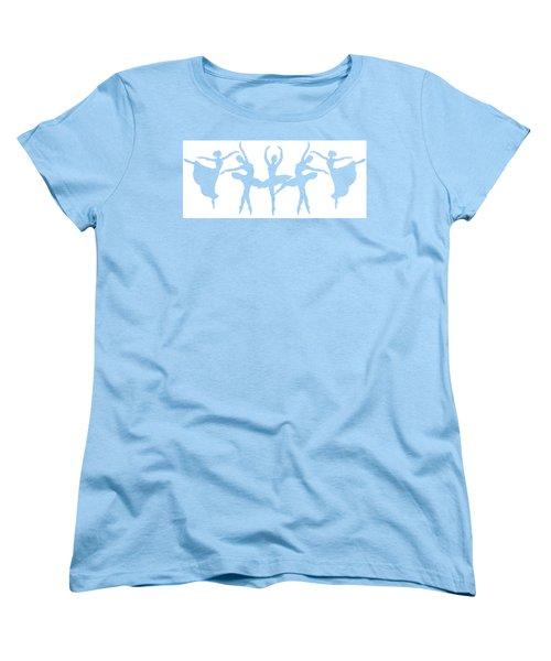 Ballerinas Dancing Silhouettes Women's T-Shirt (Standard Cut) by Irina Sztukowski