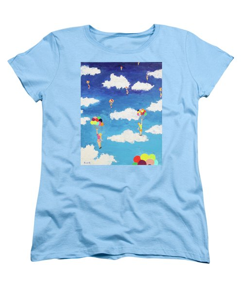 Balloon Girls Women's T-Shirt (Standard Cut) by Thomas Blood