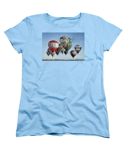 Women's T-Shirt (Standard Cut) featuring the photograph Ballooning by Marie Leslie
