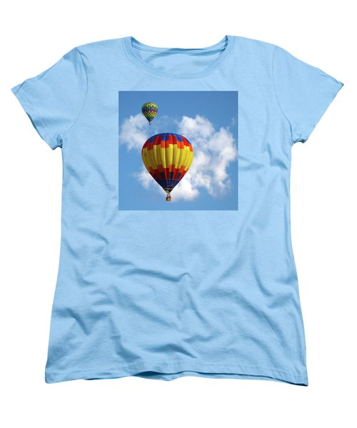 Women's T-Shirt (Standard Cut) featuring the photograph Balloons In The Cloud by Marie Leslie