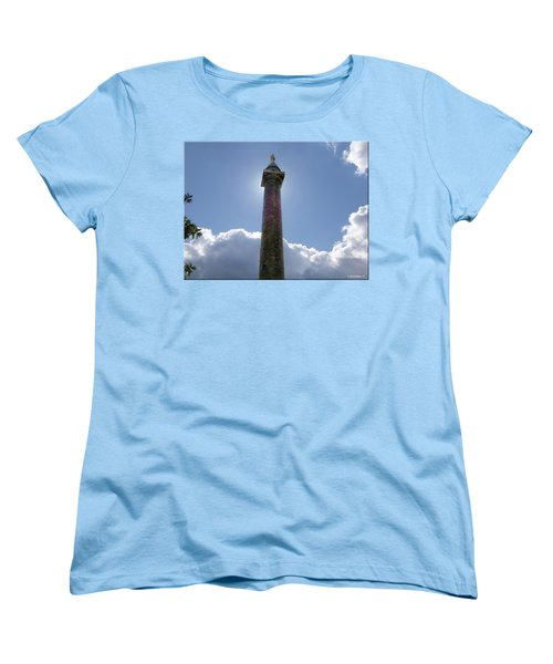 Women's T-Shirt (Standard Cut) featuring the photograph Baltimore's Washington Monument by Brian Wallace