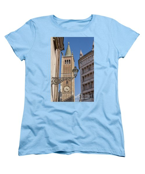 Baptistery And Cathedral In Parma Women's T-Shirt (Standard Cut) by Patricia Hofmeester