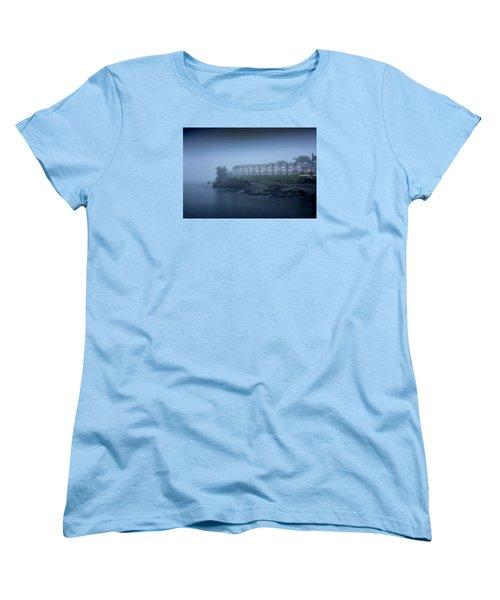 Bar Harbor Inn - Stormy Night Women's T-Shirt (Standard Cut) by Brendan Reals
