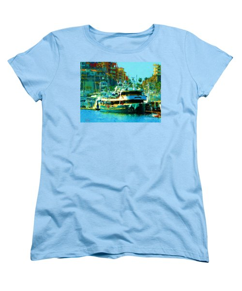 Barco En Cabo Marina II Women's T-Shirt (Standard Cut) by Gerhardt Isringhaus
