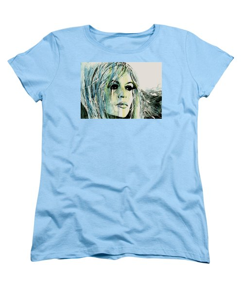 Women's T-Shirt (Standard Cut) featuring the painting Bardot by Paul Lovering