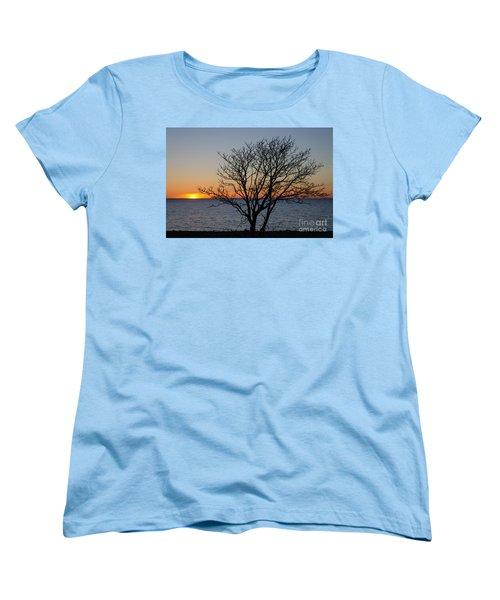 Women's T-Shirt (Standard Cut) featuring the photograph Bare Tree At Sunset by Kennerth and Birgitta Kullman