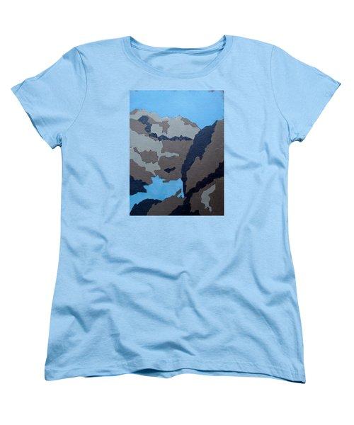 Barker Dam Abstract Women's T-Shirt (Standard Cut) by Richard Willson