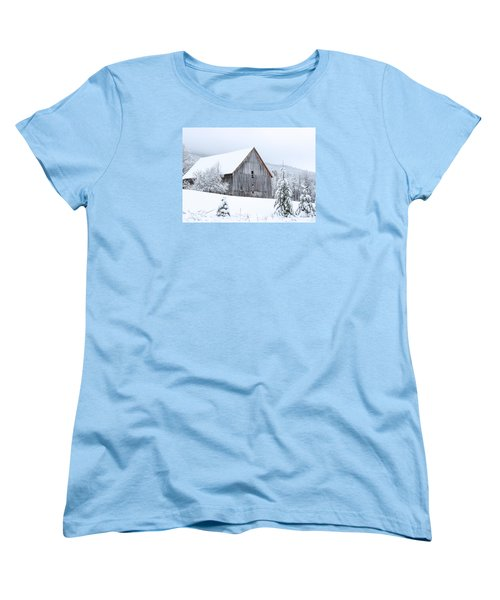 Barn After Snow Women's T-Shirt (Standard Cut) by Tim Kirchoff