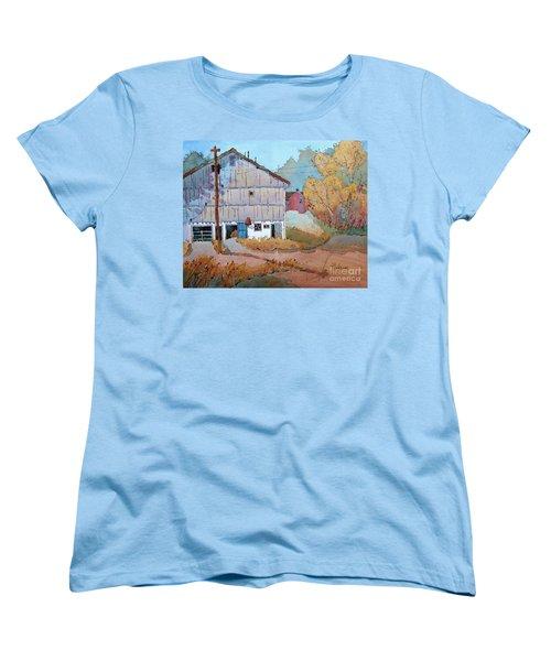 Barn Door Whimsy Women's T-Shirt (Standard Cut) by Joyce Hicks