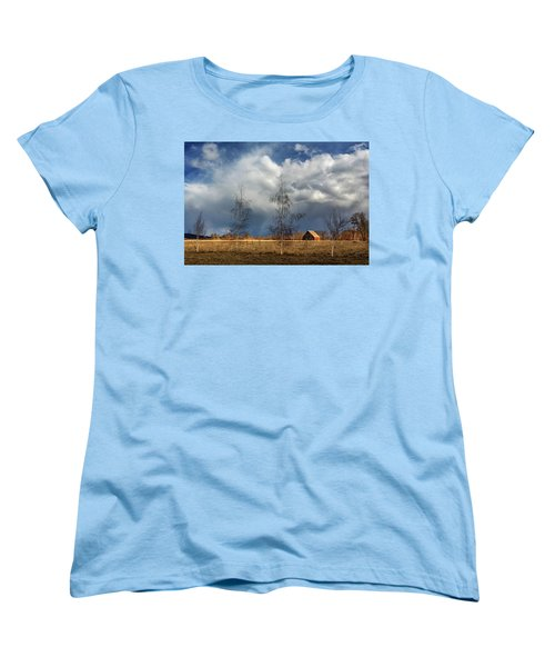 Women's T-Shirt (Standard Cut) featuring the photograph Barn Storm by James Eddy